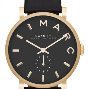 """Marc Jacobs """"Baker"""" leather strap watch, 37mm"""